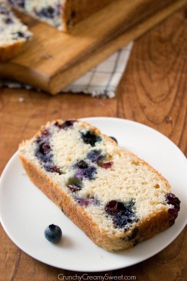 Blueberry Bread 2 Blueberry Quick Bread Recipe