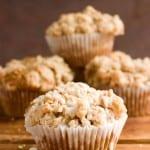 Cinnamon Coffee Cake Muffins Recipe from crunchycreamysweet.com  150x150 Breads, Rolls and Muffins