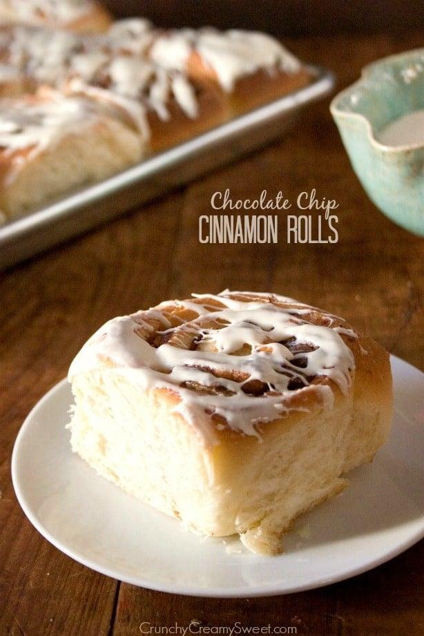 Cinnamon Rolls with Chocolate Chips 1 Chocolate Chip Cinnamon Rolls Recipe