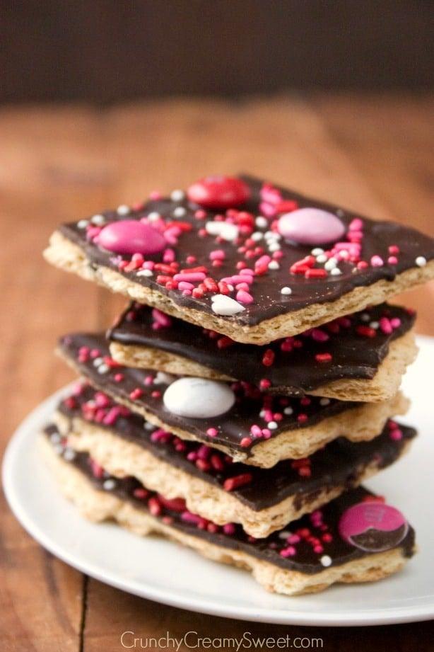 Valentine S Day Chocolate Bark Recipe Crunchy Creamy Sweet