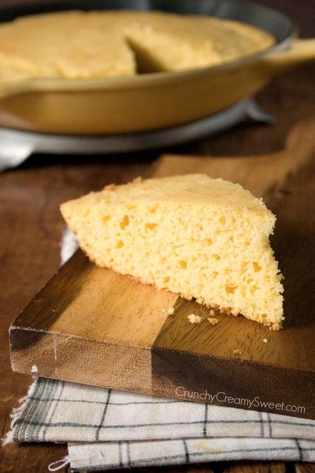 Skillet Cornbread Slice Skillet Cornbread Recipe