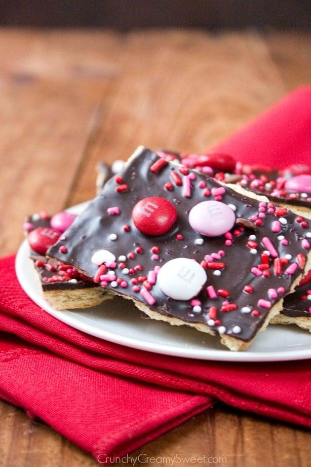 V Day Bark Valentines Day Chocolate Bark Recipe
