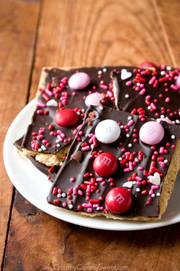 Valentines Day Choco Bark Valentines Day Chocolate Bark Recipe