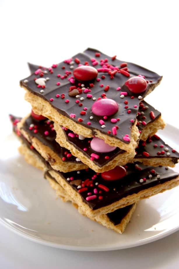 chocolate bark Valentines Day Chocolate Bark Recipe