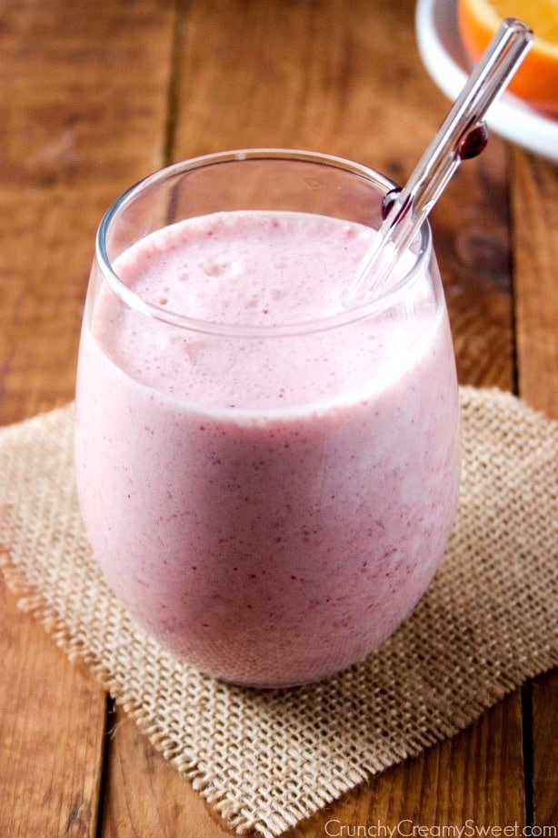 cranberry orange smoothie Orange Cranberry Smoothie and Glass Dharma Giveaway!