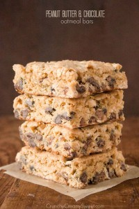 pb chocolate oatmeal bars 200x300 Peanut Butter Chocolate Oatmeal Bars