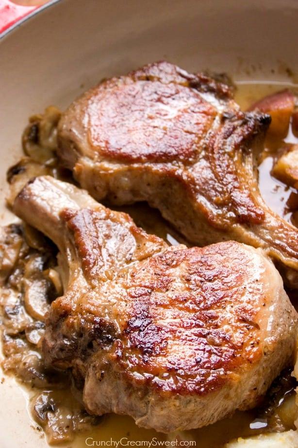 Braised Pork Chops Dish Braised Pork Chops with Lemon Garlic Red ...