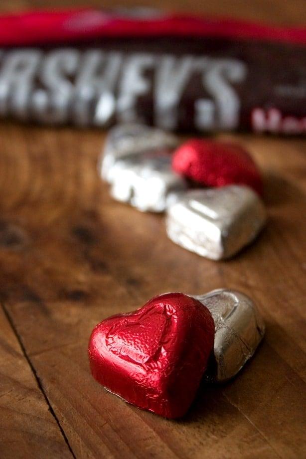 Hersheys chocolate hearts Fudge Brownies with Chocolate Ganache and Hersheys Giveaway!