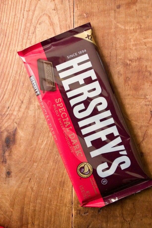 Hersheys special dark Fudge Brownies with Chocolate Ganache and Hersheys Giveaway!