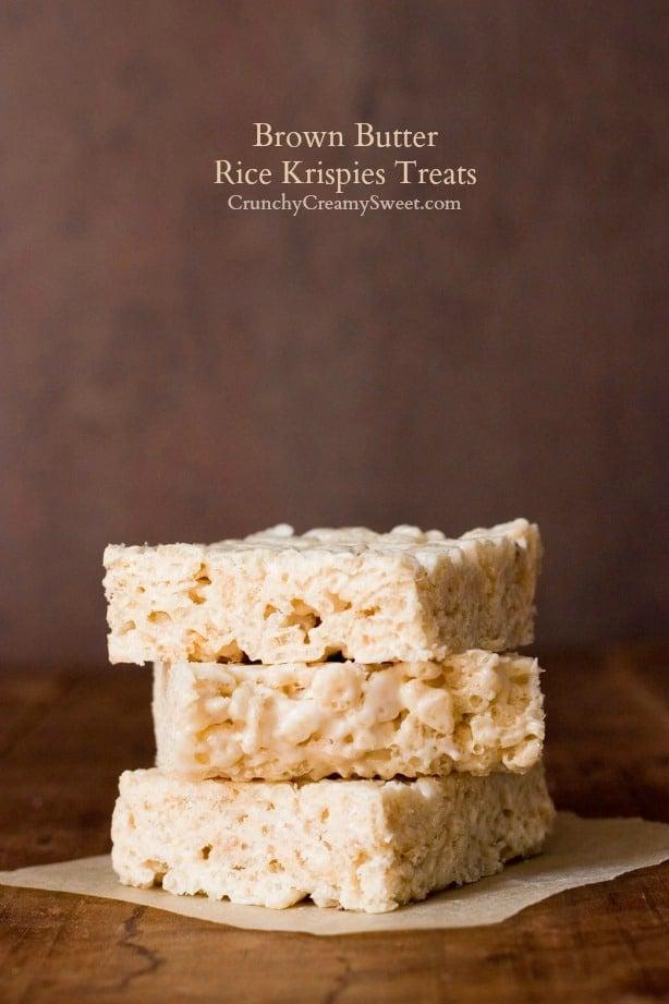 Brown Butter Rice Krispies Treats Brown Butter Rice Krispies Treats ...