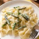 Creamy Lemon Asparagus Pasta a 150x150 Creamy Lemon and Asparagus Pasta Recipe