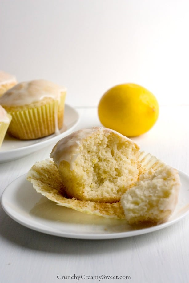 Glazed Lemon Muffins Recipe — Dishmaps