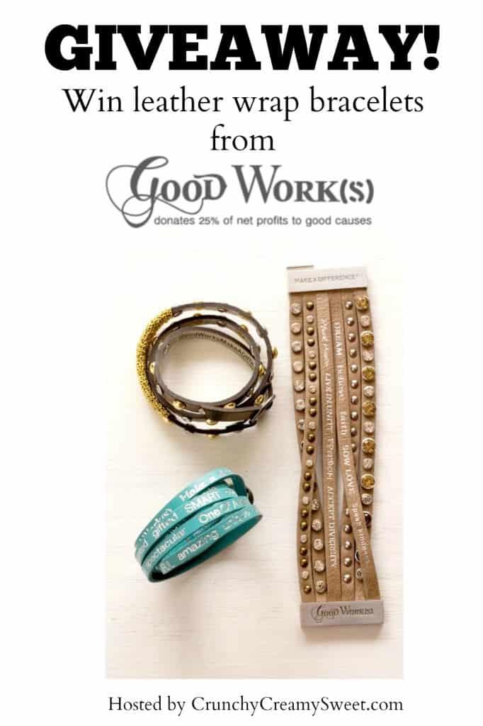 Good Works Leather Wrap Bracelets Giveaway 682x1024 Good Work(s) Make a Difference Bracelets Giveaway!