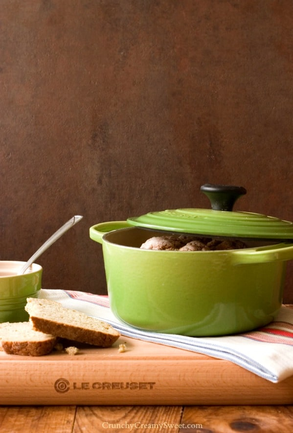 New Le Creuset Color PALM Garlic and Herb Irish Soda Bread