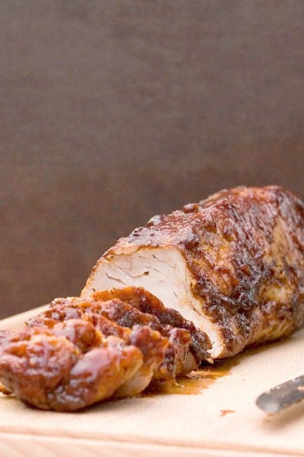 bbq pork tenderloin a Tangy Apricot BBQ Pork Tenderloin