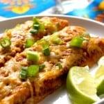Quinoa Black Beans Enchiladas Recipe from crunchycreamysweet.com 150x150 Black Beans and Quinoa Enchiladas