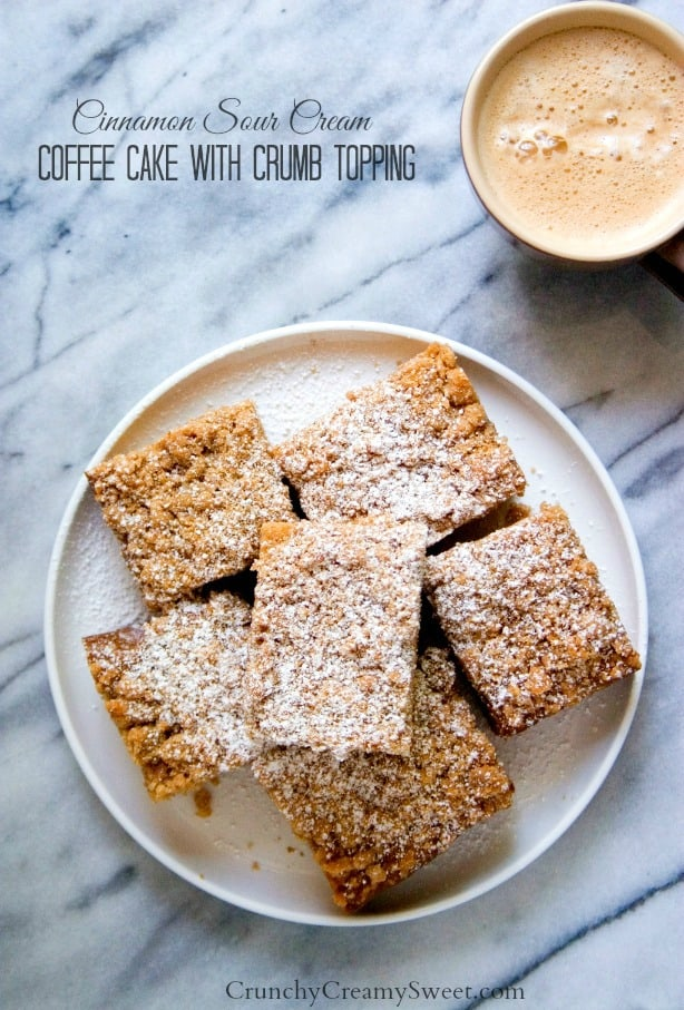 Cinnamon Coffee Cake with the best crumb topping 1 Cinnamon Sugar Donuts