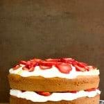 Lemon and Strawberry Layer Cake Recipe from crunchycreamysweet.com  150x150 Lemon Strawberry Layer Cake Recipe