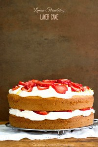 Lemon and Strawberry Layer Cake Recipe from crunchycreamysweet.com 1 200x300 Best Strawberry Recipes You Have to Try!