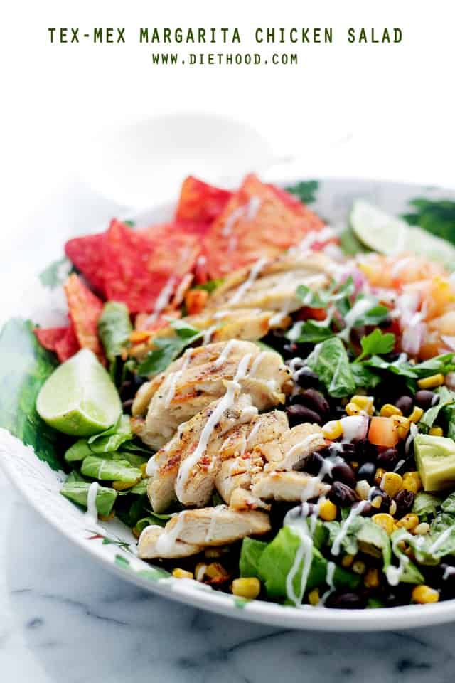 Margarita Tex Mex Chicken Salad Diethood Friday Things and Links