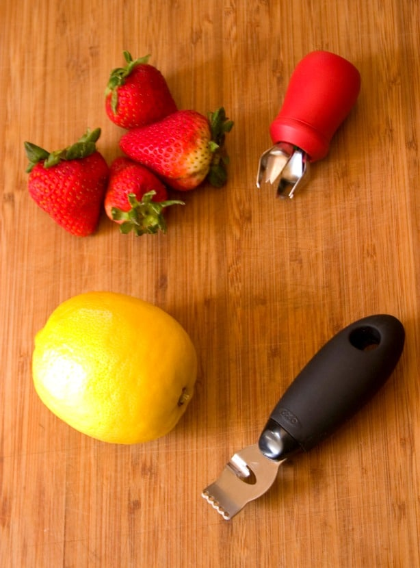 OXO fruit tools Lemon Strawberry Layer Cake Recipe