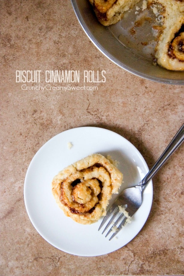 Biscuit Cinnamon Rolls from crunchycreamysweet.com  Biscuit Cinnamon Rolls Recipe