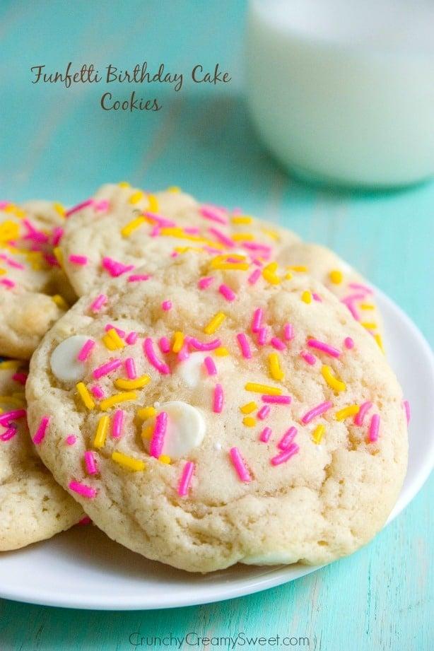 Funfetti Birthday Cake Cookies Funfetti Cheesecake Sugar Cookie Bars Recipe