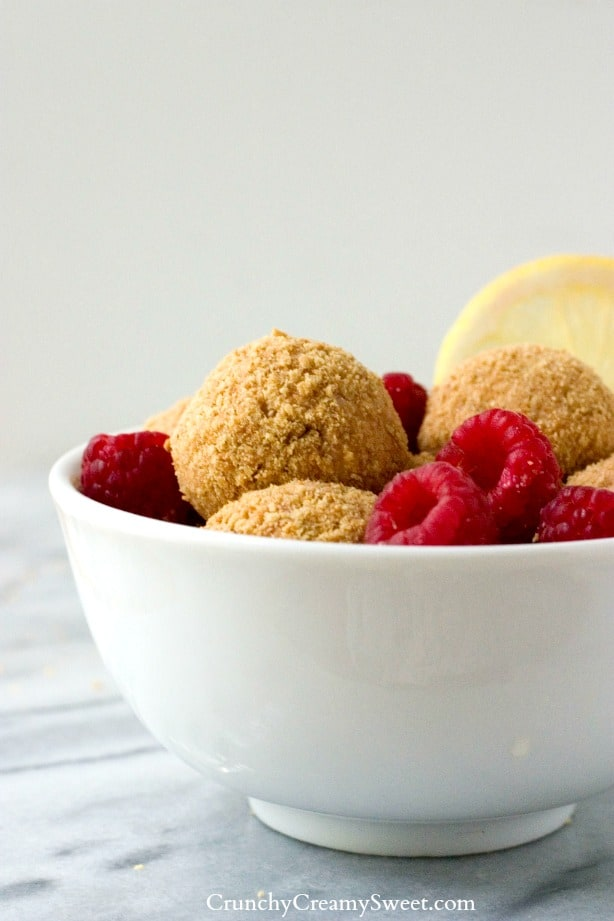 No Bake Lemon Raspberry Cheesecake Bites Lemon Raspberry No Bake ...