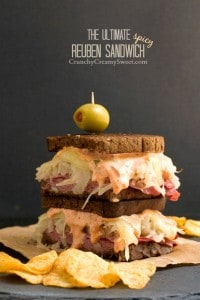 The Ultimate Spicy Reuben Sandwich 200x300 15 Best Game Day Recipes