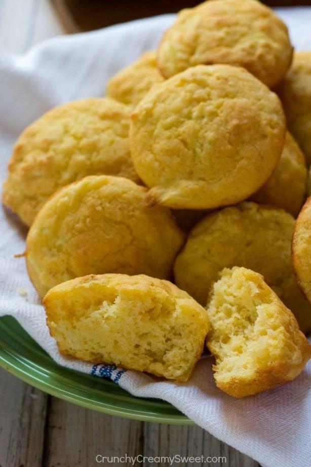 Cornbread Muffins with Zucchini Zucchini Cornbread Muffins