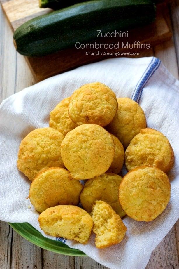Zucchini Cornbread Muffins  Zucchini Cornbread Muffins