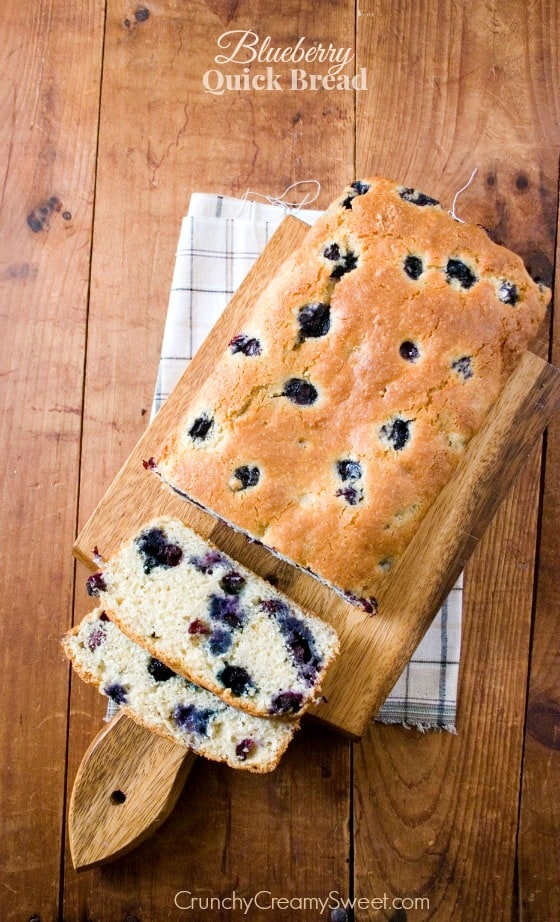 Blueberry Quick Bread Back to school Snack Ideas