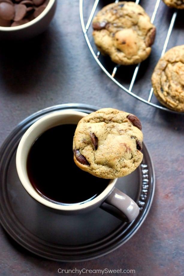 Mocha Cookies aka Coffee and Chocolate Cookies Coffee Chocolate Chip Cookies