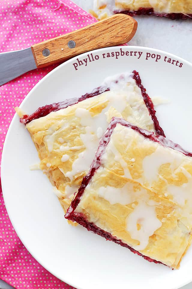 Phyllo Raspberry Pop Tarts by Diethood Back to school Snack Ideas