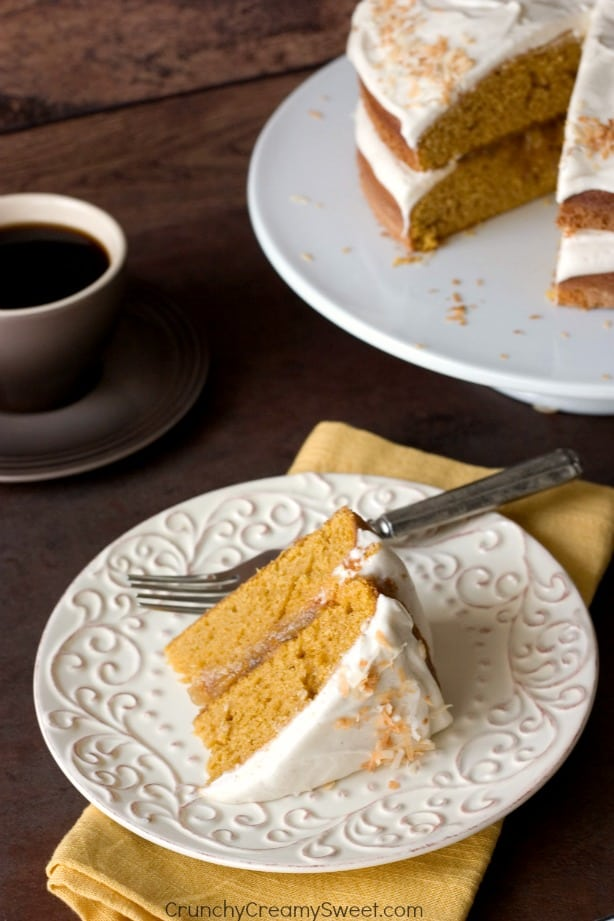 Pumpkin Layer Cake easy and delicious fall dessert Pumpkin Layer Cake with Orange Ginger Filling and Cinnamon Cream Cheese Frosting