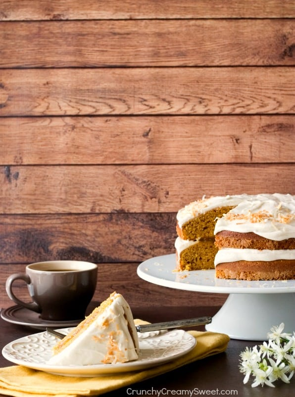 with Cinnamon Cream Cheese Frosting Pumpkin Layer Cake with Orange ...