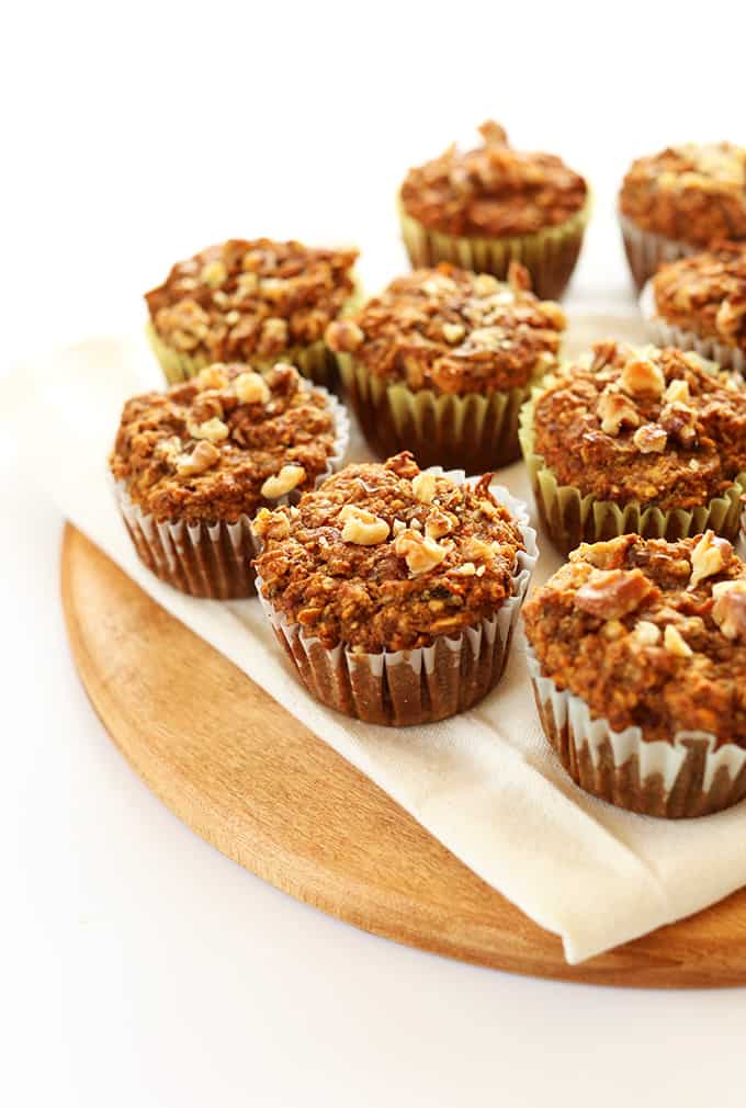Vegan Gluten Free Carrot Muffins Wholesome moist delicious and just ONE BOWL required Back to school Snack Ideas