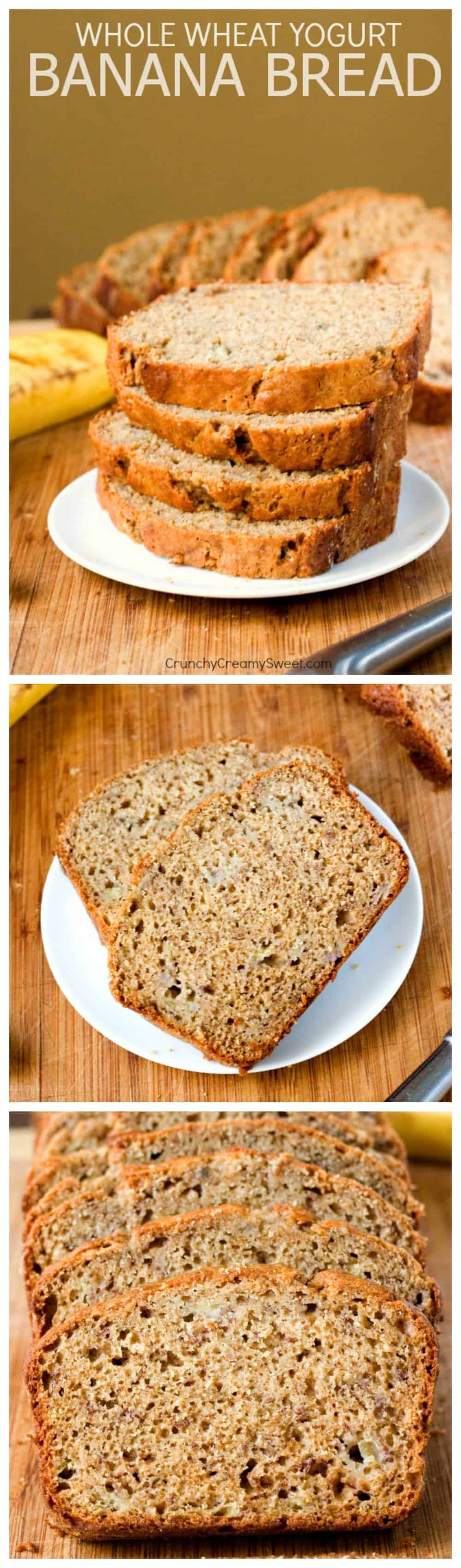 Whole Wheat Yogurt Banana Bread a healthier way to enjoy your favorite quick bread Whole Wheat Yogurt Banana Bread with Cinnamon