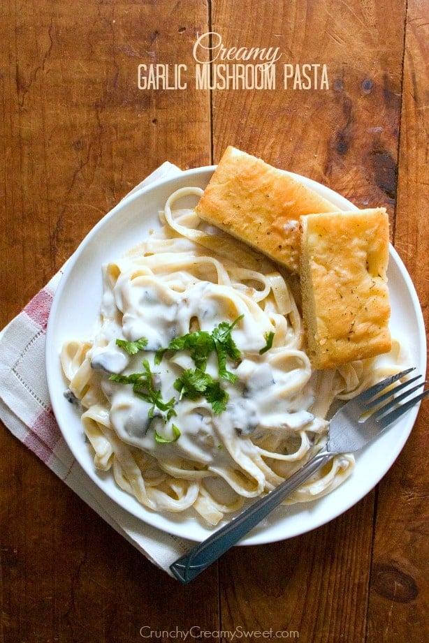 garlic mushroom pasta Skinny Fettuccine Alfredo Recipe