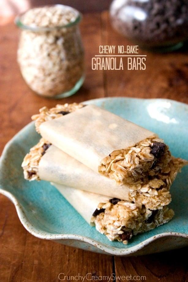granola bars1 Back to school Snack Ideas