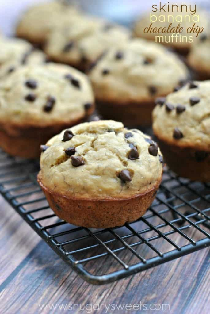 skinny banana chocolate chip muffins 1 685x1024 Back to school Snack Ideas