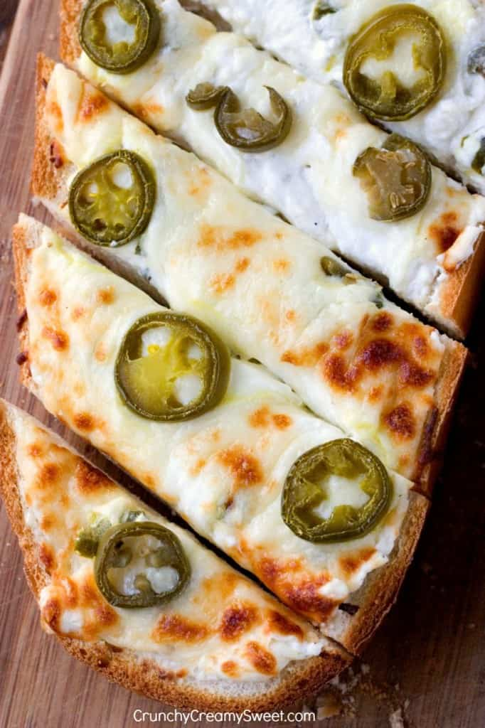 Cheesy Garlic Bread with Ja 682x1024 Jalapeno Popper Cheesy Garlic Bread Recipe Card