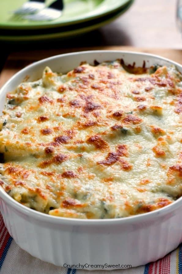 Cheesy Spinach Dip Pasta Cheddar Bacon Ranch Dip Recipe Card