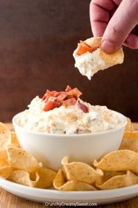 Easy Ranch Dip with Cheddar Cheese and Bacon 199x300 15 Best Game Day Recipes