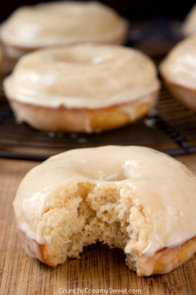 Maple Glazed Donut fluffy baked donuts with delicious maple glaze Maple Glazed Donuts