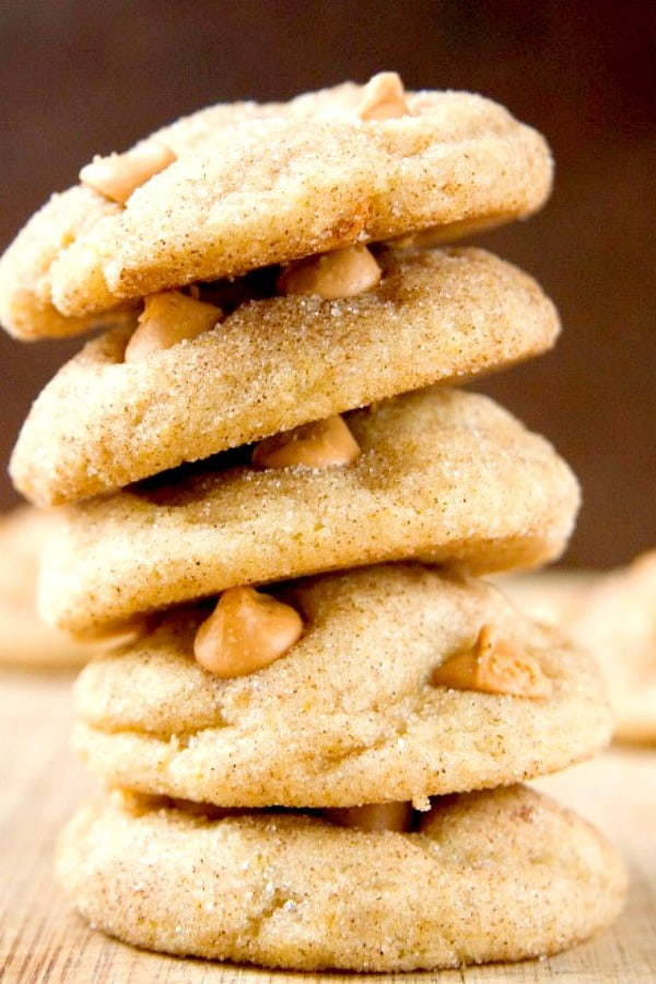 Soft and Chewy Snickerdoodles with Butterscotch Chips a Soft and Chewy Butterscotch Snickerdoodles