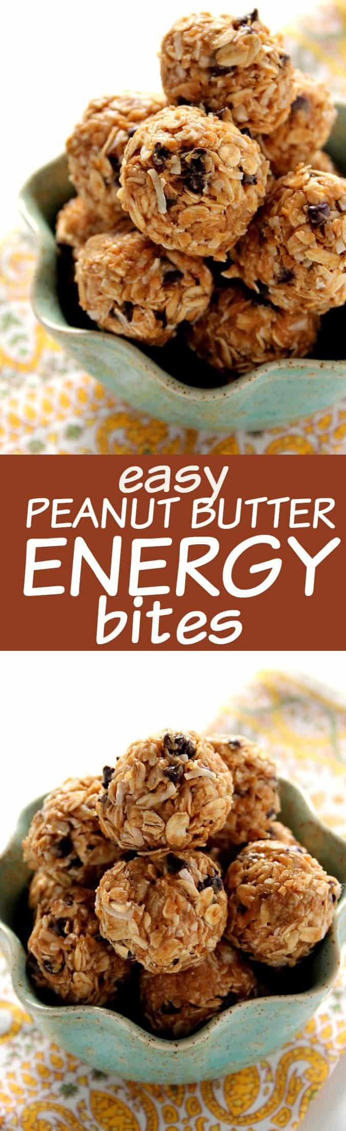 energy bites long Peanut Butter Energy Bites