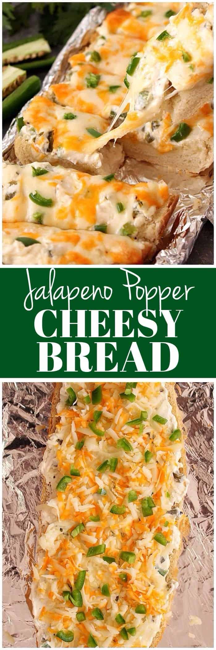 jalapeno popper bread recipe long1 Cheesy Jalapeno Popper Bread Recipe
