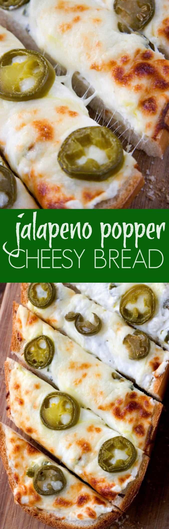 jalapeno popper cheesy bread long Jalapeno Popper Cheesy Garlic Bread