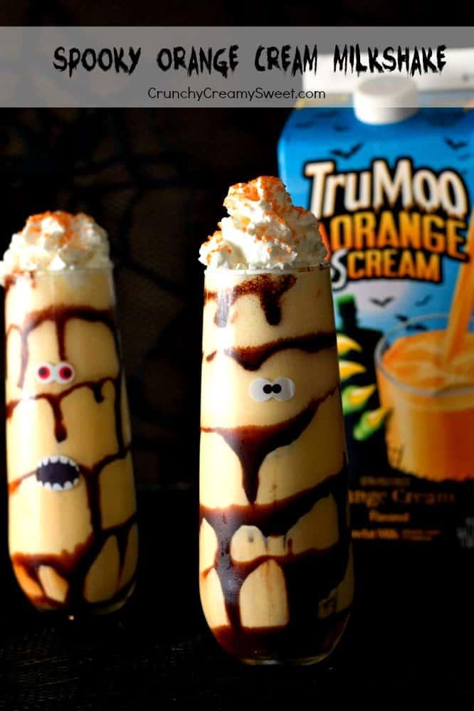 Halloween Orange Cream Milkshake Spooky Orange Cream Milkshake (Healthy)